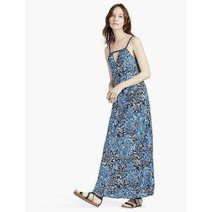 Lucky Brand Women's Indigo Floral Maxi Dress Blue